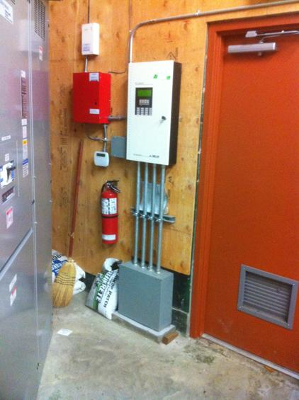 Electrical Room in Surrey strip mall