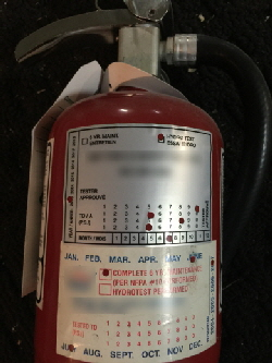 Bogus Six Year Maintenance and Hydrostatic Test Stickers