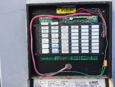 Incorrectly installed Mircom BB-1001WP outdoor annunciator enclosure